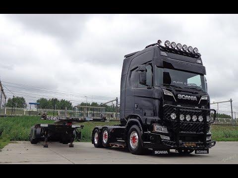 2018 (Black Edition) Scania S730 V8 Power 6X2 Reversing Unloading Gioval Transport (Next Generation)