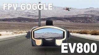 Eachine EV800 FPV Goggle - Drone Racing Monitor Review