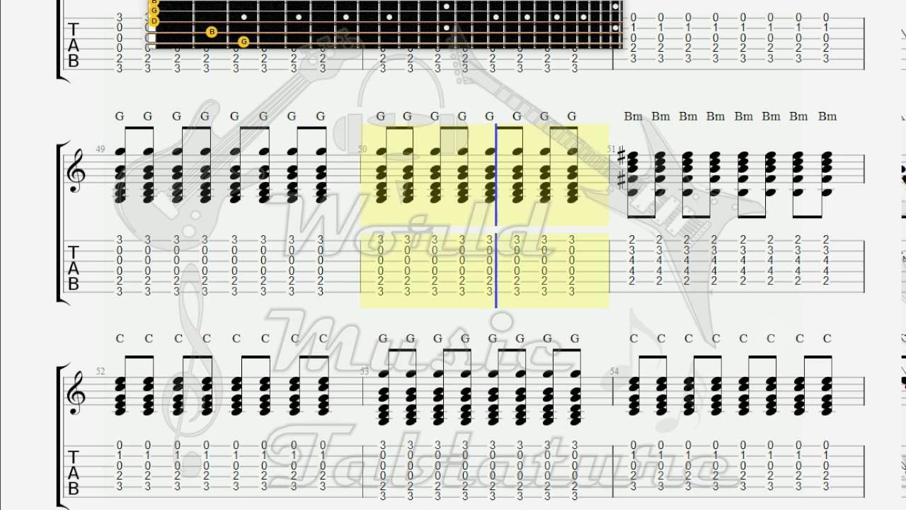 Creedence Clearwater Revival Who Ll Stop The Rain Guitar Tab Youtube