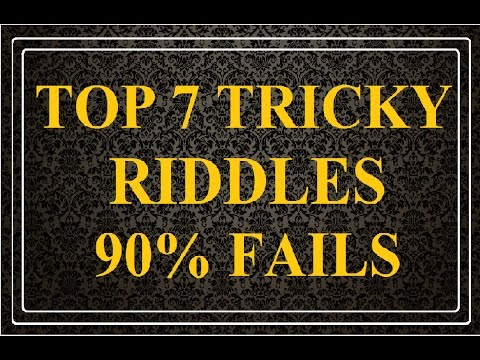 Top 7 Tricky Riddles with Answers So Far..