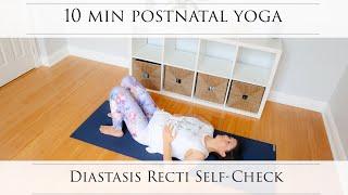 10 Min Postnatal Yoga: How to Check for Diastasis Recti