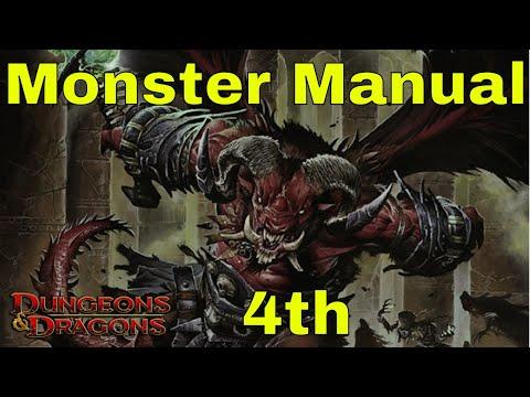 Du0026D Monster Manual 4e