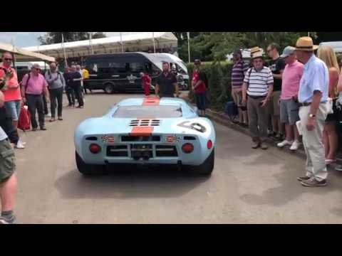 Ford GT40 P/1075 Leaving the Paddock at Goodwood FOS 2019!