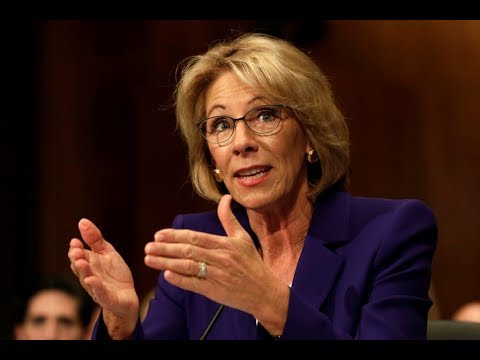 Education Sec. Betsy DeVos speaks at  Senate Appropriations Subcommittee hearing