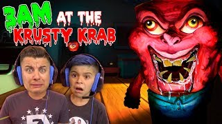 DO NOT GO TO THE KRUSTY KRAB AT 3AM!! The Krusty Krab Nightmare Video