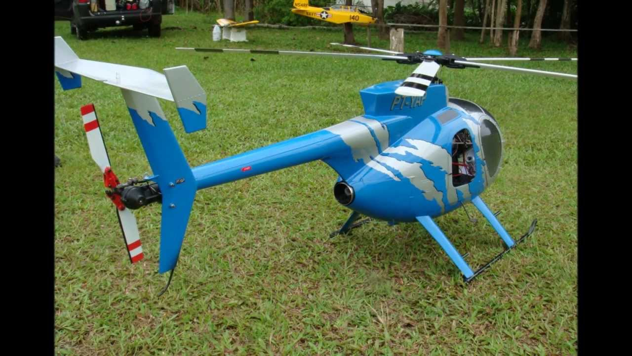 Hughes MD500-D (700 Size by Century) Super Scale Rotorhead & Custom Details