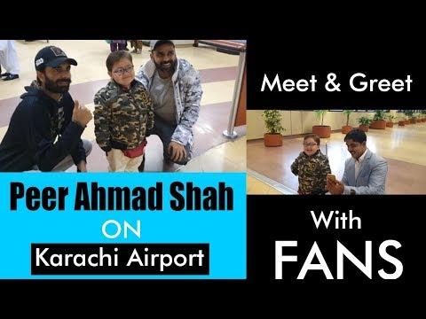 Cute Ahmad Shah With His Fans On Karachi Airport 2020