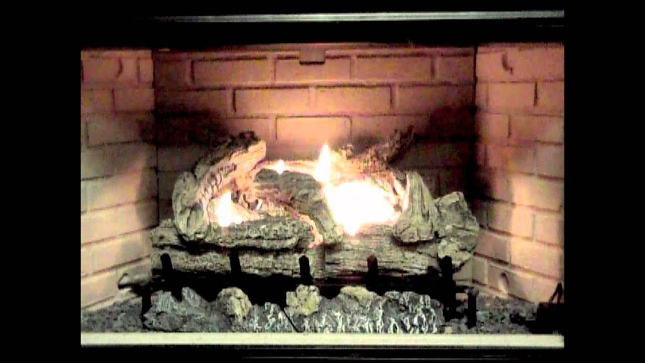 everwarm vent free gas logs youtube