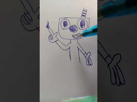 Как рисовать магмена из игры Caphed
