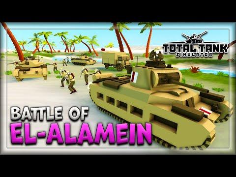 Total Tank Simulator Sandbox Gameplay: 2nd Battle Of El-Alamein |