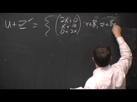Lecture 4: Sums and direct sums