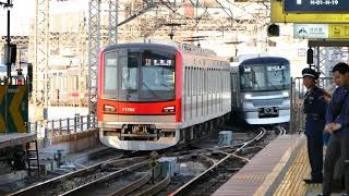 【東京メトロ】南千住駅で 東武70000系 メトロ13000系 新鋭 そろい踏み 日比谷線