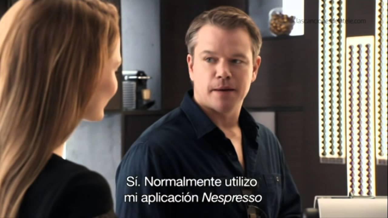 Célèbre Anuncio Nespresso: Matt Damon - Noviembre 2013 - YouTube DS89