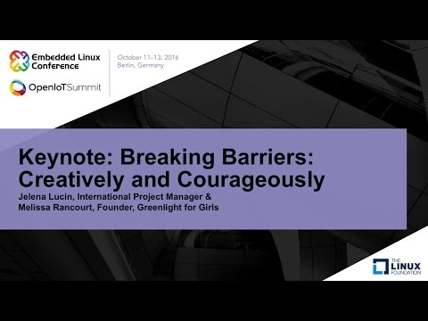 Keynote: Breaking Barriers: Creatively and Courageously