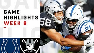 Colts vs. Raiders Week 8 Highlights | NFL 2018