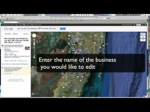 How to Edit My Business' Google Maps / Places Information