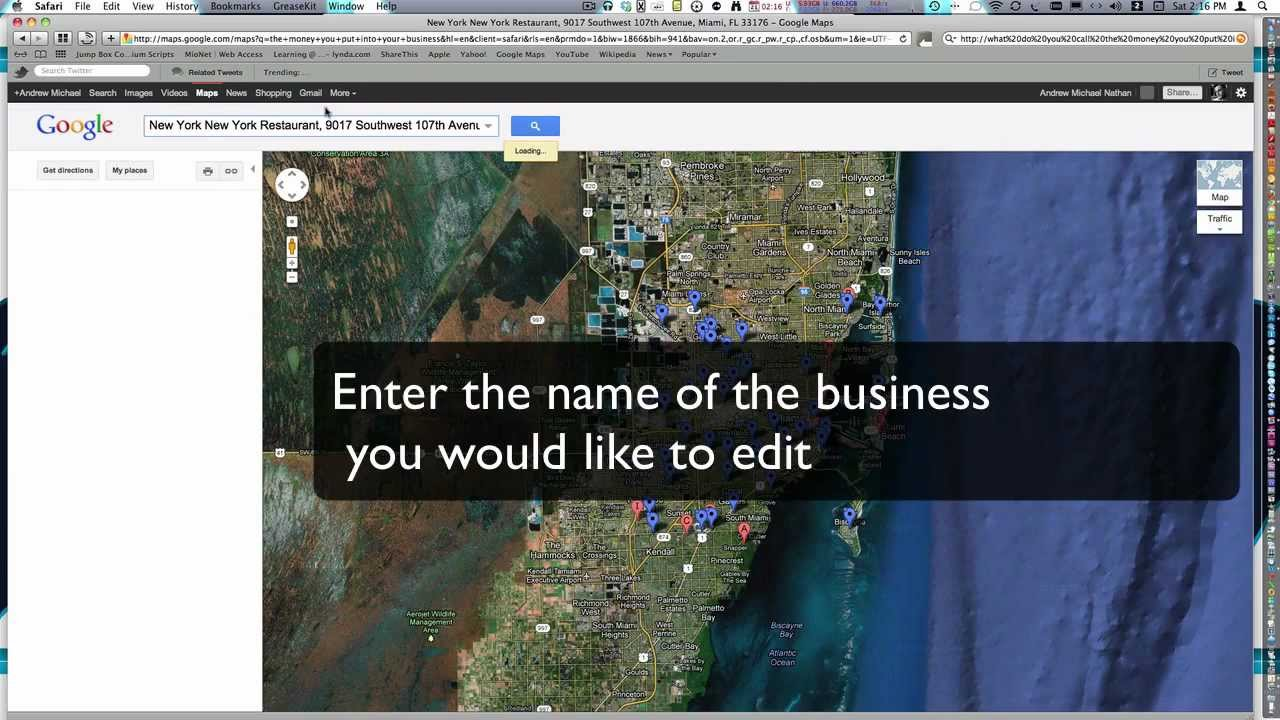 How to Edit My Business' Google Maps / Places Information Edit My Places In Google Maps on my google contacts, bing maps, my google profile, my nokia maps, my google plus, my google gmail, my google docs, my google mail, my places google, my disney maps, my msn maps, satellite maps, my google business, my maps example, weather maps, my maps app, my google history, my google calendar, my google drive, my google search,