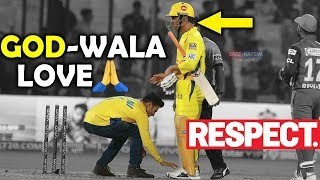 IPL 2019 : MS Dhoni Fan Touches Dhoni's Feet During CSK Vs DC Match | GOD WALA LOVE ❤
