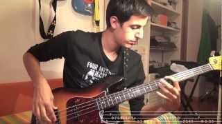 easy jazz walking bass with tabs