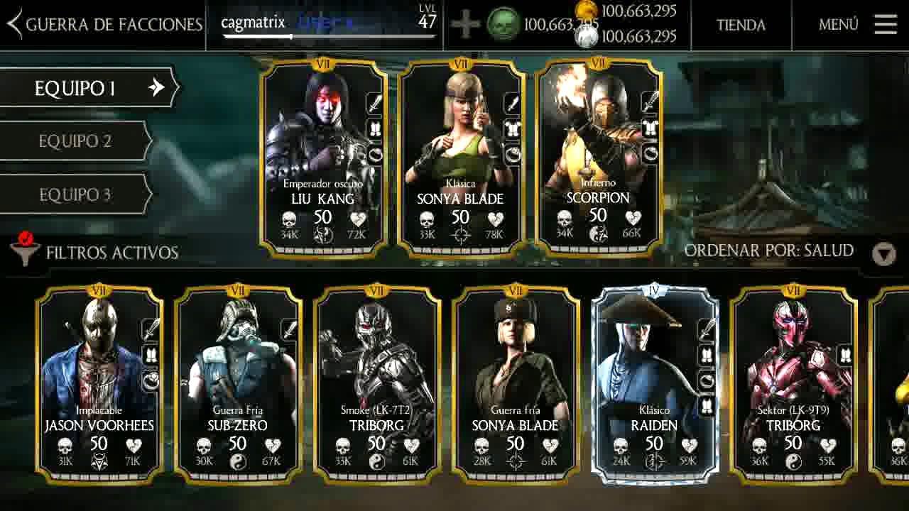Mortal Kombat X [Mobile] Los mejores Personajes y Cartas ...
