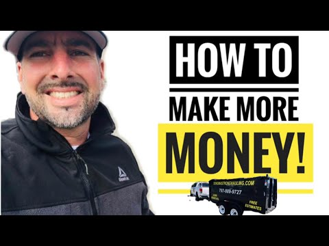How To Make More Money With Your JUNK REMOVAL BUSINESS! #hauling #junk