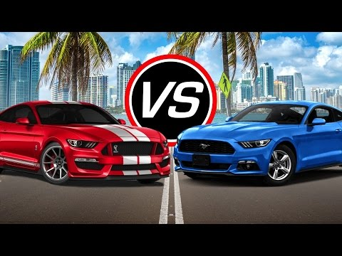 2016 Ford Mustang Shelby GT350 vs Mustang EcoBoost i4 - Spec Comparison!