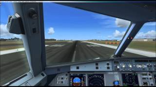 [FSX] A320-214 Brussels Airlines takeoff @Brussels