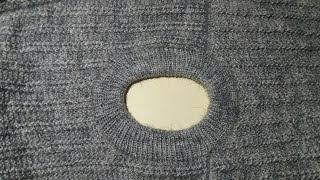 How to make round neck knitting tutorial for gents sweater.