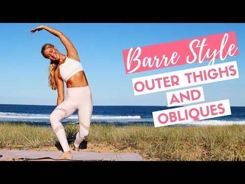 SLIM THIGHS AND FLAT ABS 👙💖 Barre Pilates Home Workout