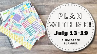 PLAN WITH ME! | July 13-19 | Plum Paper Planner