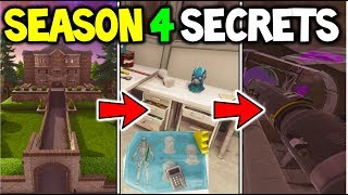 Fortnite Season 4 *SECRET FEATURES* ADDED INTO V.4 - Hidden Features - Fortnite Battle Royale