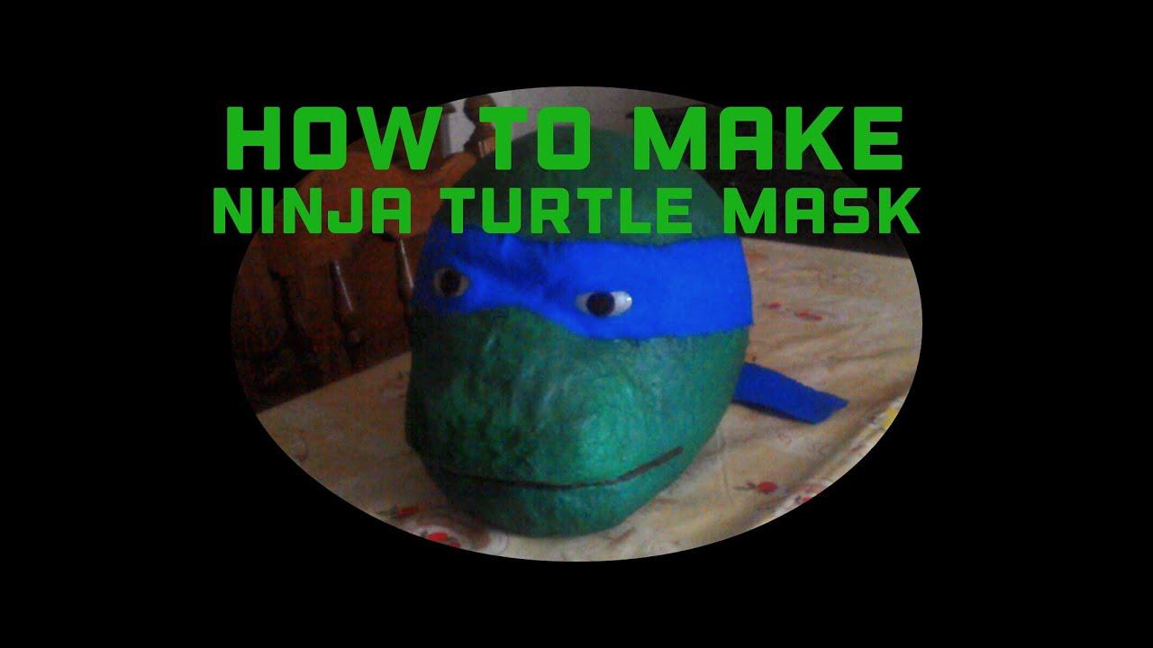 How To Make A Ninja Turtle Mask Tutorial Youtube