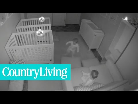 Watch What These Twins Are Up To Once Their Parents Go to Sleep | Country Living