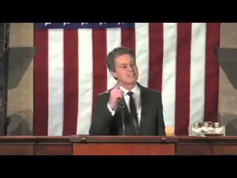 Virtual President Giving Speech On Gun Control
