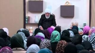 Gulshan-e-Waqfe Nau Lajna UK Class with Hazrat Mirza Masroor Ahmad (November 24, 2013)