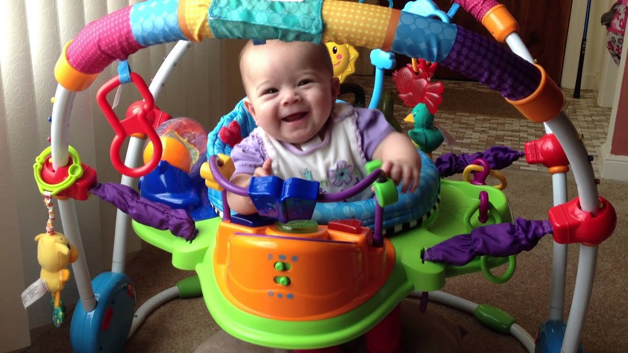 Baby playing in her Baby Einstein activity jumper Kalea Reese