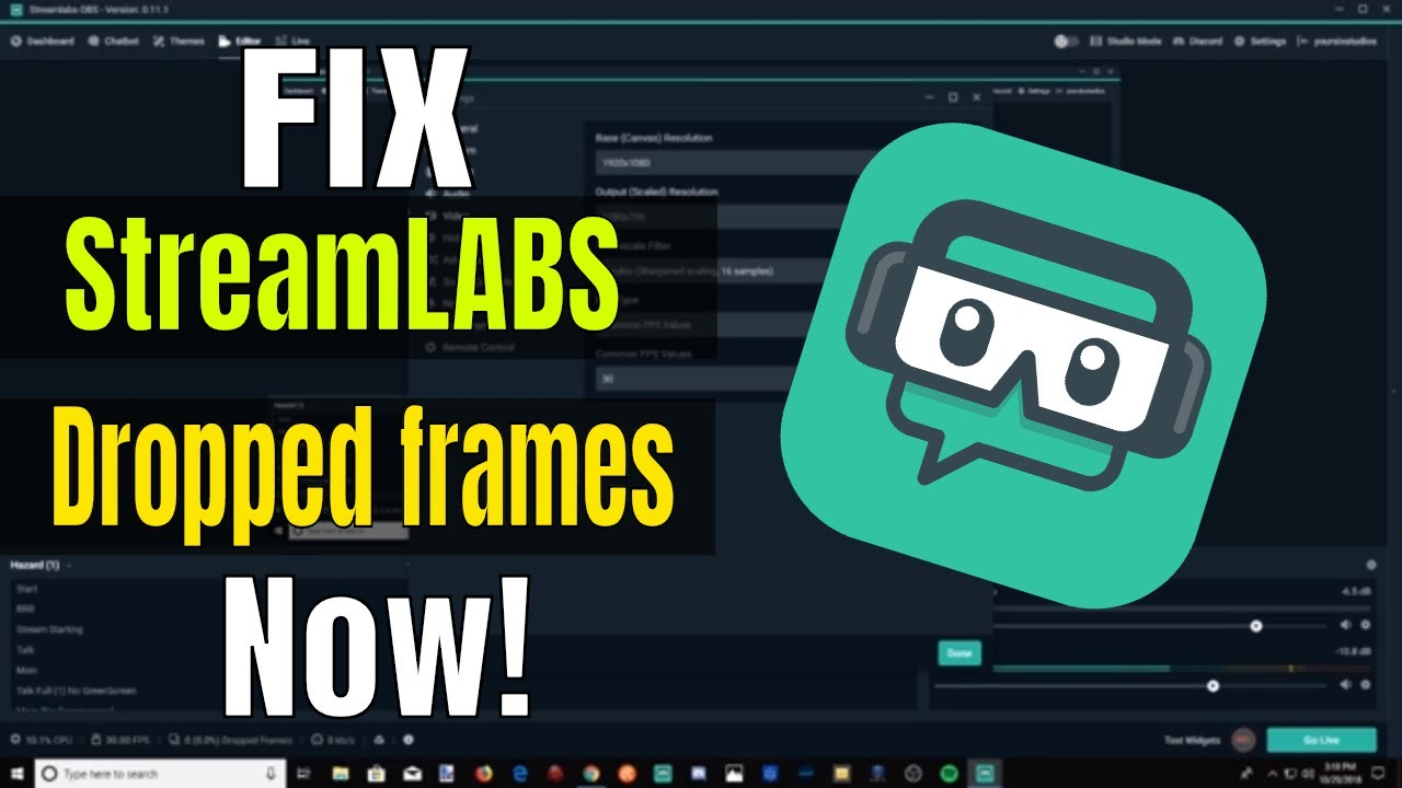 Dropped Frames Streamlabs Obs
