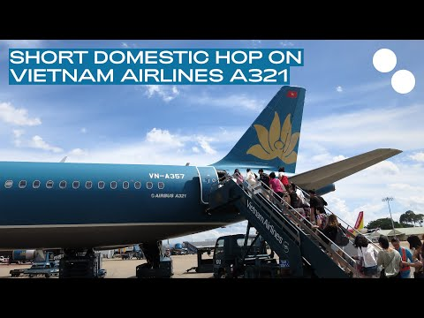 VIETNAM AIRLINES A321 ECONOMY CLASS VN7361 NHA TRANG - HO CHI MINH