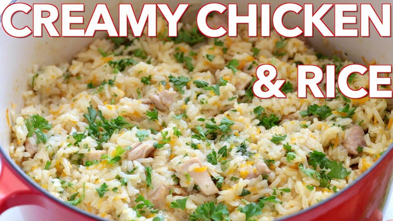 Dinner Creamy Chicken And Rice Plov Natasha S Kitchen Youtube