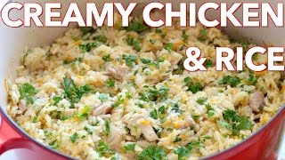 Dinner: Creamy Chicken and Rice - Natasha