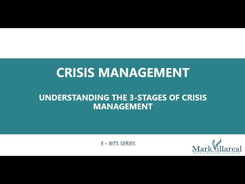Crisis Management - Understanding The 3-Stages Of Crisis Management