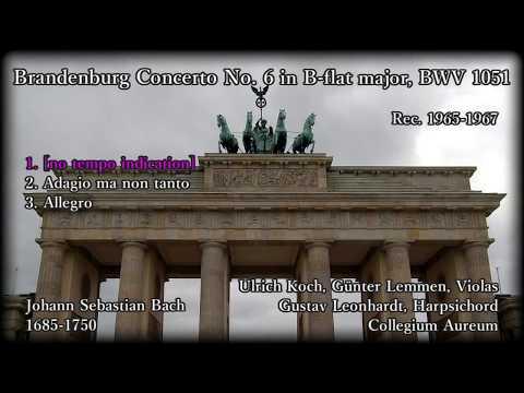 Bach: Brandenburg Concerto No. 6, Collegium Aureum (1965-67) バッハ ブランデンブルク協奏曲第6番 コレギウム・アウレウム