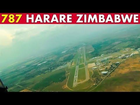 Pilotsview Boeing 787 into Harare Zimbabwe