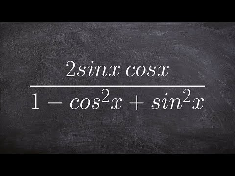 Pre-Calculus - Simplifying a rational trigonometric identity using pythagoren identities
