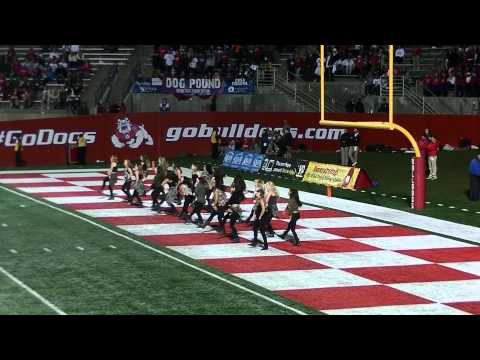 Fresno State Dance Team  Wyoming Game Military Night