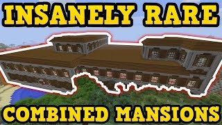 2 HUGE Mansions ACCIDENTLY COMBINED (Minecraft PS4 Seed)