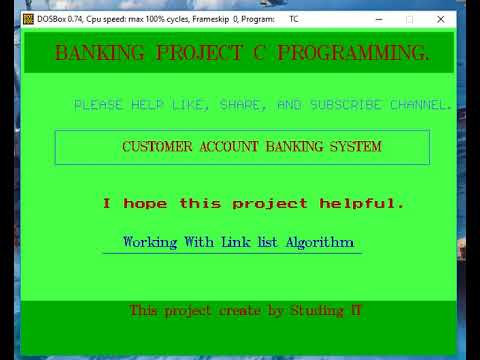 Banking System Project With C programming include graphic header file in  turbo c++