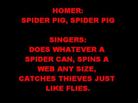 Spider Pig+Lyrics