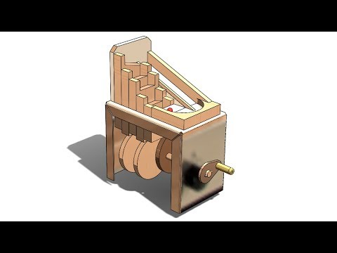 SolidWorks M Tutorial #297 : Marble machine 2 ( motion analysis)