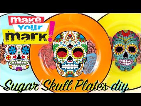 How to:  Sugar Skull Plates DIY